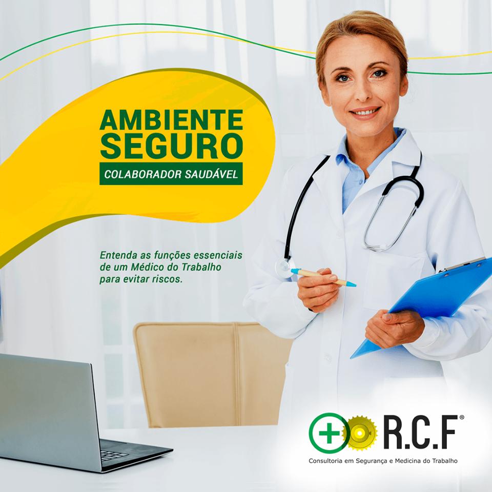 Ambiente seguro colaborador saudável, entenda as funções essenciaisde um médico de trabalho para evitar riscos.