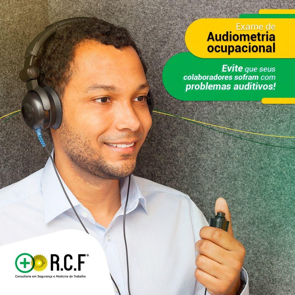 Exame de Audiometria Ocupacional.