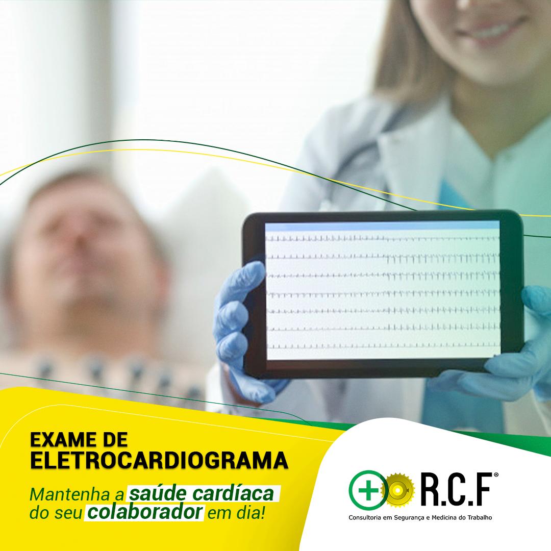 Exame de Eletrocardiograma.