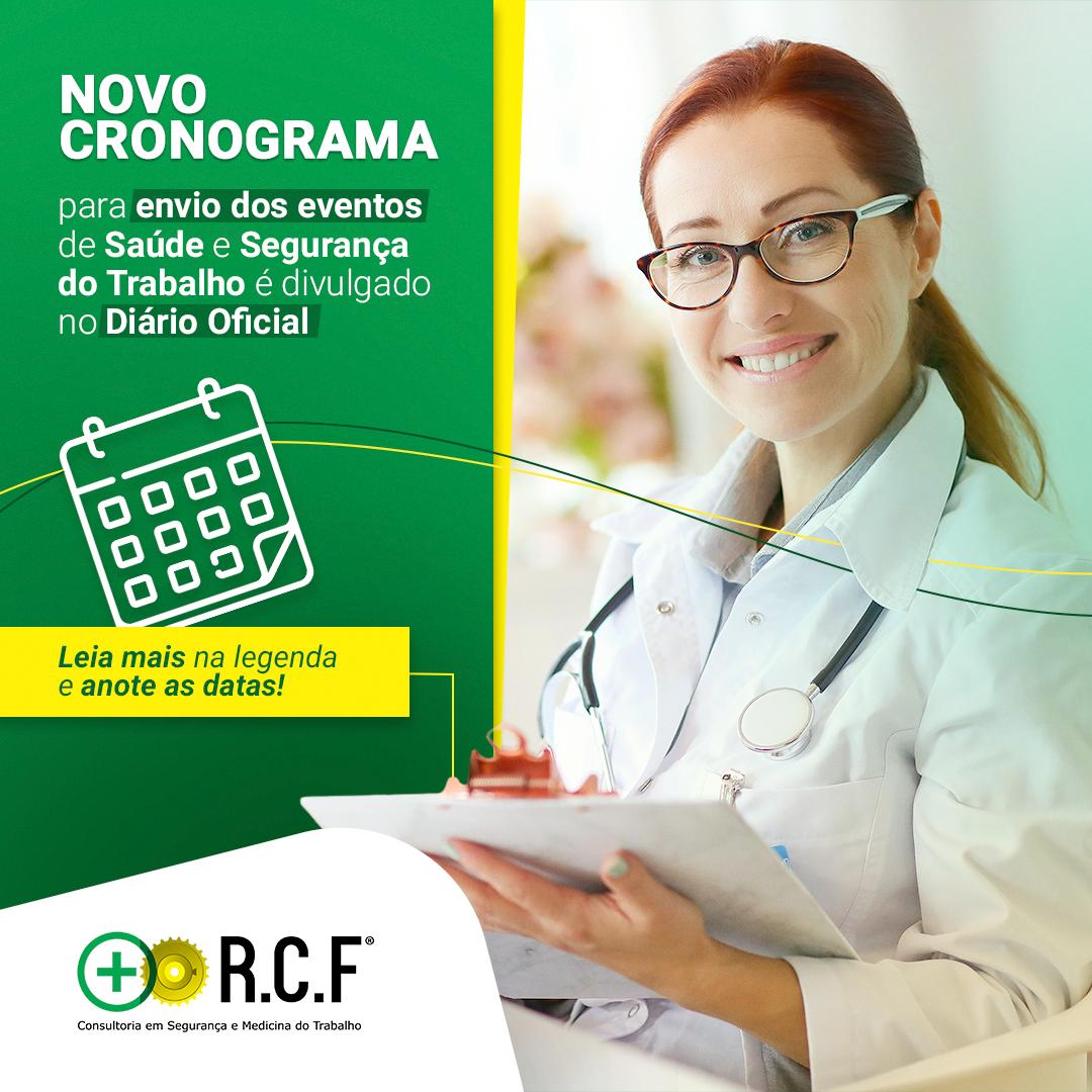 Novo Cronograma para o envio dos eventos de Saúde e Segurança do Trabalho é divulgada no Diário Oficial.